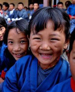 Niños en Bhután